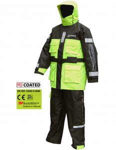 Костюм плавающий Spro Floatation Suit Black & Yellow ― Mirsnastey