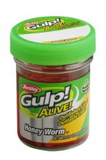 Сил Гусеница Berkley Gulp! Alive Honey Worm в банке